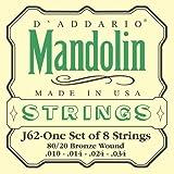 Daddario ダダリオ マンドリン弦 J62 Mandlin 80/20 Bronze 【国内正規品】