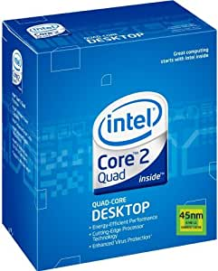 Intel Core 2 Quad Q9400 Processor 2.66 GHz 1333 MHz 6 MB LGA775 EM64T CPU (BX80580Q9400)