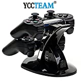 PS3 Charger, YCCTEAM®LED Dual Controller Charger Power Docking Station Charger Stand for Playstation 3 PS3