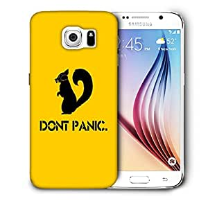 Snoogg Don'T Panic Designer Protective Back Case Cover For SAMSUNG GALAXY S6