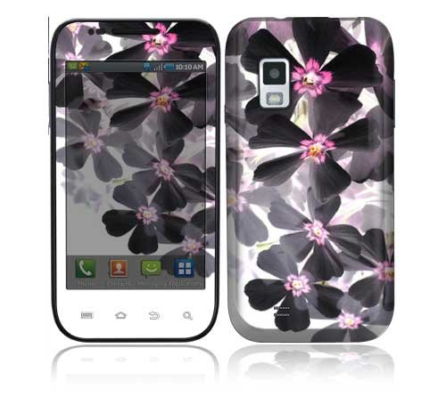 Samsung Fascinate, Samsung Mesmerize Decal Skin - Asian Flower Paint