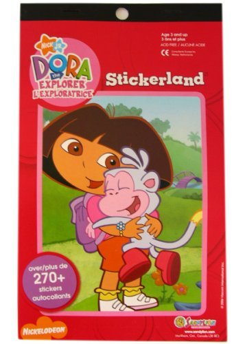 Nick Jr Dora The Explorer Stickerland (booklet of over 270+ stickers)
