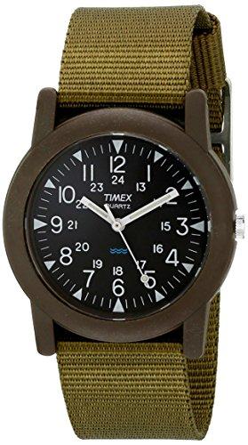 timex-unisex-t41711-camper-quartz-analogique-noir-vert-synthetique