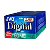 JVC 60 Minute Mini DV Tape 10 Pack ~ JVC