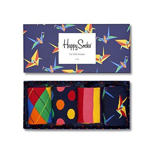 happy-socks-herren-4er-pack-origami-socken-geschenk-kasten-blau-one-size