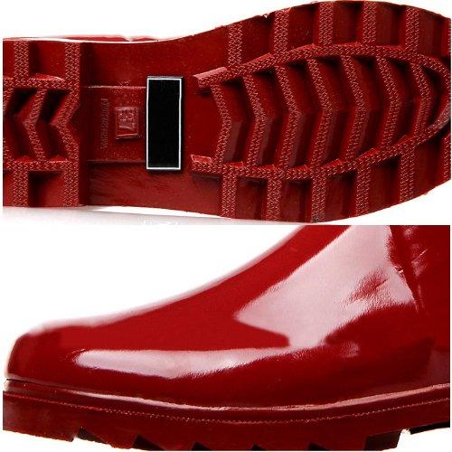 Zlyc Women's Knee High Rain Boots Galoshes 32