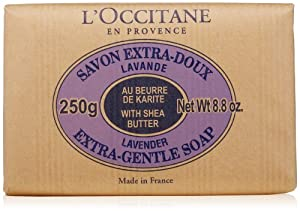 L'Occitane Shea Butter Extra-Gentle Lavender Soap, 250g