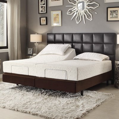 Sienna Comfort Electric Adjustable Bed Base With Wireless Remote Control Size: Split King