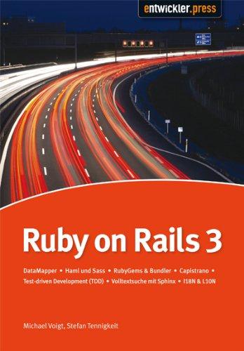 Ruby on Rails3: DataMapper | HAML und SASS | Release- und Sourcecode-Management mit Capistrano und Git | Test Driven Development (TDD) | Volltextsuche mit Sphinx
