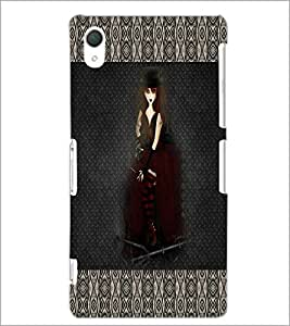 PrintDhaba Black Angel D-5669 Back Case Cover for SONY XPERIA Z2 (Multi-Coloured)