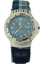 Terrain Gents Multi-Blue Velcro Strap Surf Sports Watch Water Resistant TV-1306G