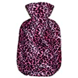 Warm Tradition Pink Cheetah Print Hot Water Bottle Cover - COVER ONLY- Made in USA