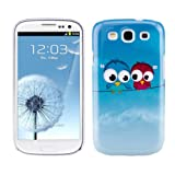Hard case Bird design for Samsung Galaxy S3 i9300 in Light blue Red - from kwmobile