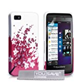 Blackberry Z10 Case Pink Floral Bee Silicone Gel Coverby Yousave Accessories