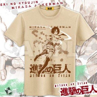 進撃の巨人 ミカサ Tシャツ  Lサイズ 017