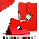 Fintie 360 Degrees Rotating Stand Case Cover For Samsung Galaxy Note 10.1 Inch Tablet N8000 N8010 N8013 - Red