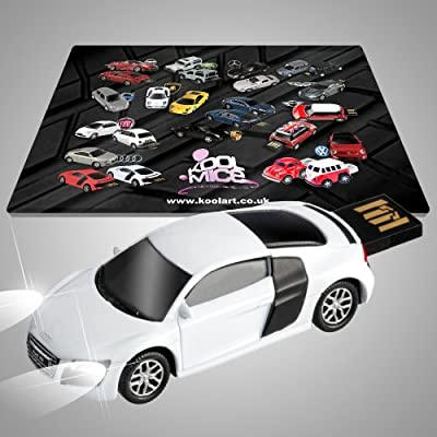Audi R8 Official Flash Drive 4GB USB with workstation mouse mat. from AutoDrive
