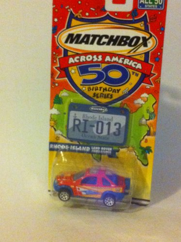 Matchbox Across America 50th Birthday Series Rhode Island Land Rover Freelander - 1