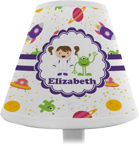 Girls Space Themed Chandelier Lamp Shade (Personalized)