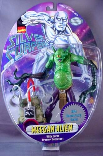 Silver Surfer Meegan Alien 6 inch Action Figure with Earth Tremor Detector