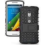 Hi-Gear Tough Hybrid Back Cover Case With Kickstand For Motorola Moto G (3rd Gen), Motorola Moto G (Gen 3), Motorola...