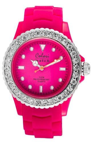 Colori Colori Analog Pink Dial Women's Watch - 5-COL103 (Multicolor)