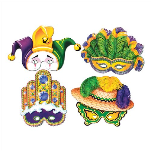 Mardi Gras Masks Party Accessory (1 count) - 1