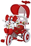 #4: Amardeep and Co Baby Tricycle Red 86*64*33 cms 1-3 yrs W/Shade and Parental Control  - Red-1522MZ