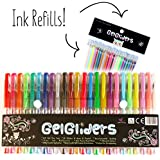 Gel Pens   24 Colored Pens with Bonus 24 Gel Ink Refills   Glitter, Neon and Pastel Styles   Coloring and Craft Pen Set for Adults and Kids Includes Black, White, Gold and Silver   Handy Artist Case