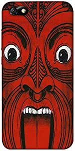 Snoogg Aztec Face Designer Protective Back Case Cover For Huawei Honor 4X