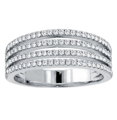 1.50 CT TW 4-Row Micro Pave Set Anniversary Diamond