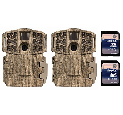 2-Moultrie-Low-Glow-14MP-Mini-888-Infrared-Trail-Game-Cameras-8GB-SD-Cards