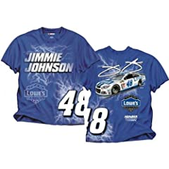 Jimmie Johnson Electric Lowes T-shirt 2014 by NASCAR