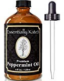 4 OZ PREMIUM PEPPERMINT OIL - 100% Pure Therapeutic Grade Essential Oil From Mentha piperita - Comes with Free Long Glass Dropper and Detailed User's Guide - Repel Mice, Spiders, Mosquitos - Keep Home and Kitchen Clean and Fresh - Discover Little Known Proven Health Benefits in our Research-based User's Guide - ONE YEAR MONEY BACK GUARANTEE - Buy Now!