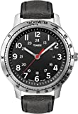 Timex Men's T2N639 Weekender Sport Black Distressed Leather Strap Watch