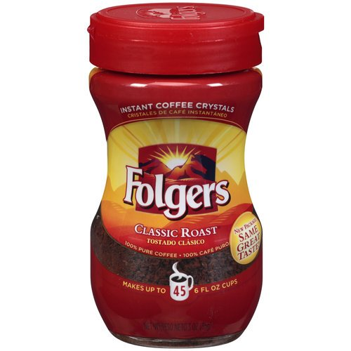 Folgers Classic Roast Instant Coffee 3 Oz (Pack Of 24)
