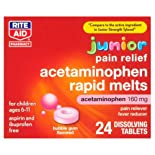 Rite Aid Junior Strength Acetaminophen RapidTabs Fever Reducer/Pain Reliever, Bubble Gum