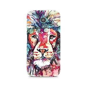 Mobicture Lion Premium Designer Mobile Back Case Cover For Moto E