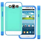 Vandot 1X Hybrid TPU Silicone Rhinestone Glitter Cover Case Sleeve Bag Case Protection Case Protective Cover for Samsung Galaxy S3 S III I9300 I9305 - Green + White+Blue