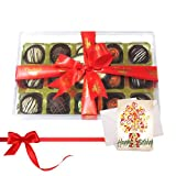 Chocholik Luxury Chocolates - Attractive Desserts Truffles Collection With Birthday Card