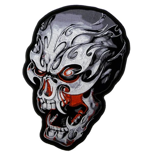 Hot Leathers Electric Skull Biker Patch (3