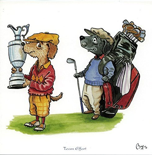 team-effort-golf-greeting-card-with-envelope-by-bryn-parry-features-cartoon-dogs-in-golfing-attire