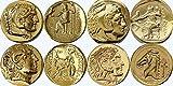 Pack de 4 monedas de Alejandro Magno