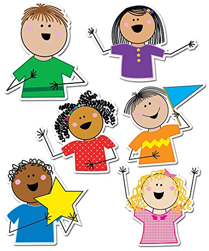 Creative Teaching Press Stick Kids 10-Inch Jumbo Designer Cut-Outs (5939)