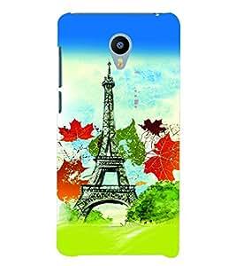PrintVisa Travel Paris 3D Hard Polycarbonate Designer Back Case Cover for YU Yunicorn