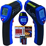 Maxsio High Quality MS803 Non-Contact Infrared Temperature Thermometer-Gun-Style-D:S-30:1 Features Pinpoint Accurate Laser - Auto-Shutoff - Data-Hold Function - Back-Lit LCD Display - Perfect Kitchen Or Automotive Diagnostic Thermometer