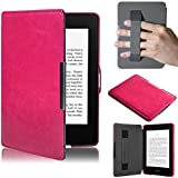Chianrliu® per Amazon Kindle Paperwhite 5 Ultraslim ecopelle Custodie Accessori Case Cover (rosa caldo)