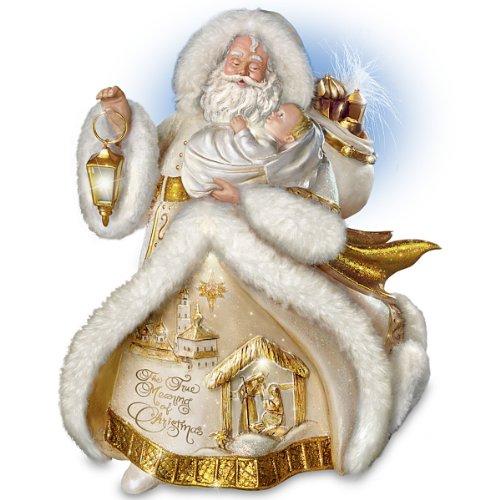 Memorable thomas kinkade christmas decorations with santa