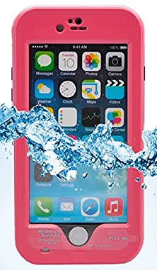 buy Xikezan Iphone 6 Plus 5.5 Inch Waterproof Case, Shockproof Dirtproof Snowproof Full Body Skin Case Protective Cover With Hand Strap & Headphone Adapter & Kickstand Rose Red