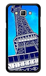 """Humor Gang Paris Eiffel Tower Caricature Printed Designer Mobile Back Cover For """"Samsung Galaxy j7"""" (3D, Glossy, Premium Quality Snap On Case)"""